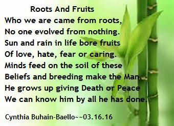 Roots And Fruits (Octave) Poem by Cynthia BuhainBaello - Poem Hunter