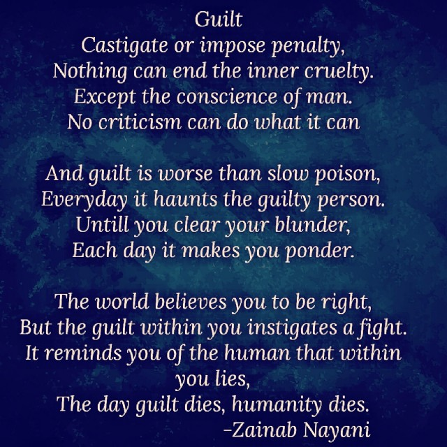 Poems On Guilt