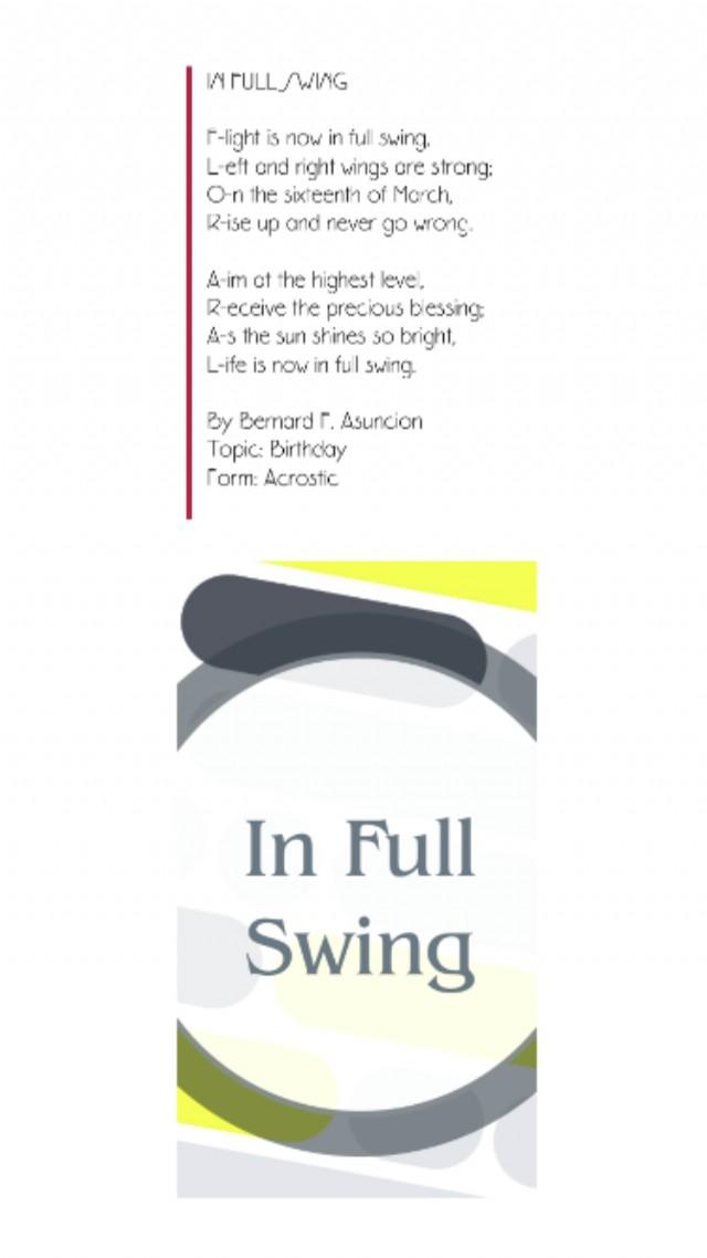 In Full Swing Poem By Bernard F Asuncion Poem Hunter Comments