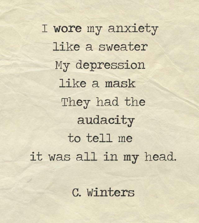 Anxiety Poem By Cece Winters Poem Hunter Comments