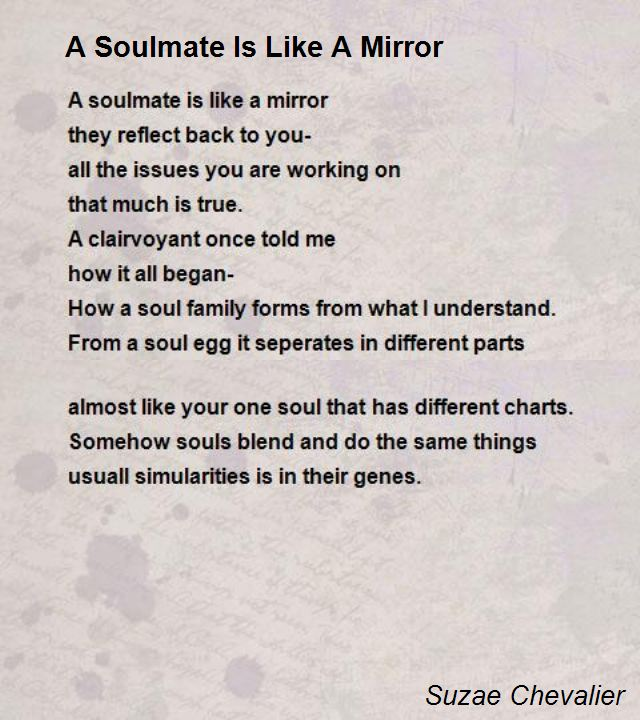 a soulmate is like a mirror poem by suzae chevalier   poem