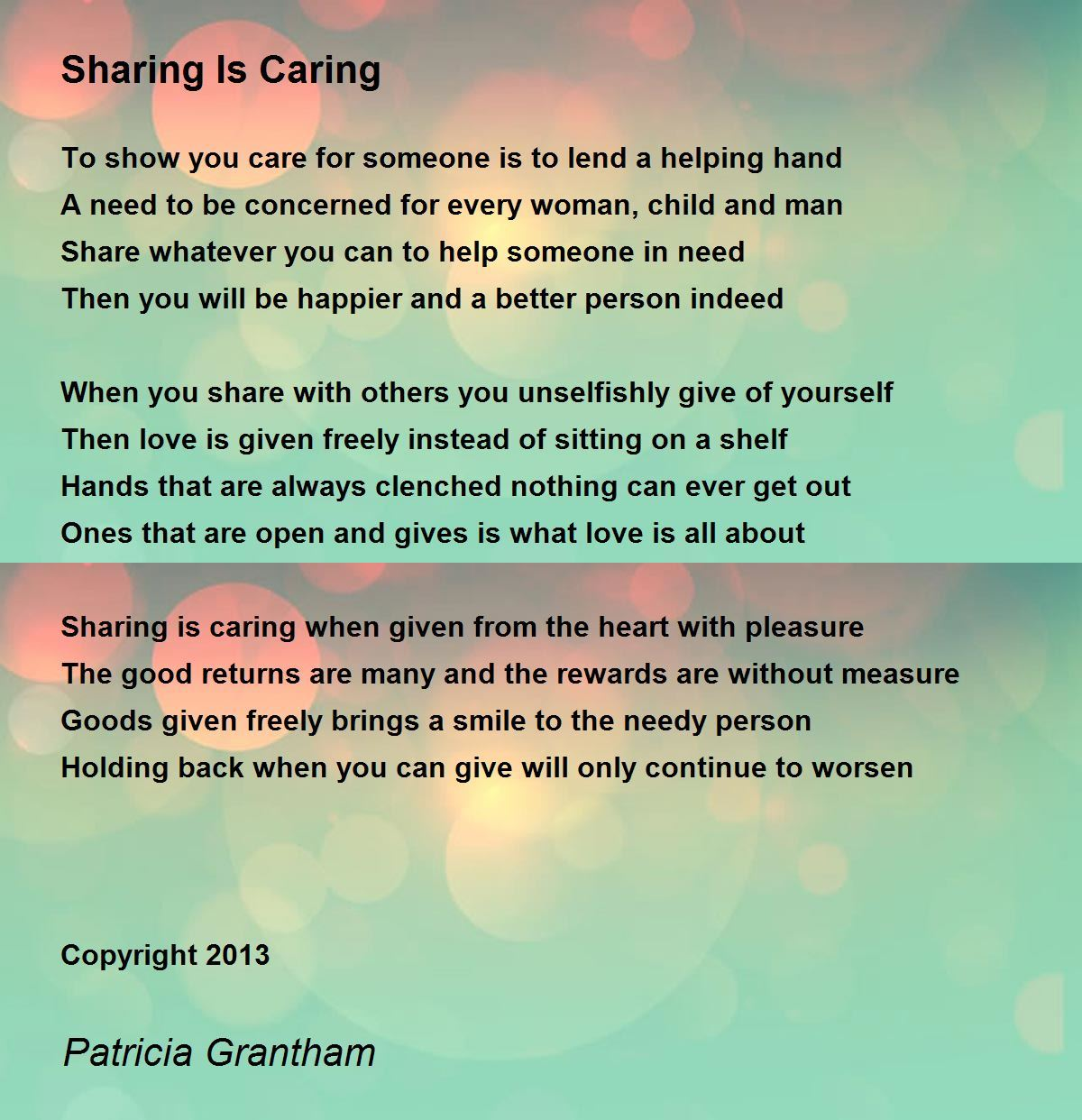 Helping and caring for others essay