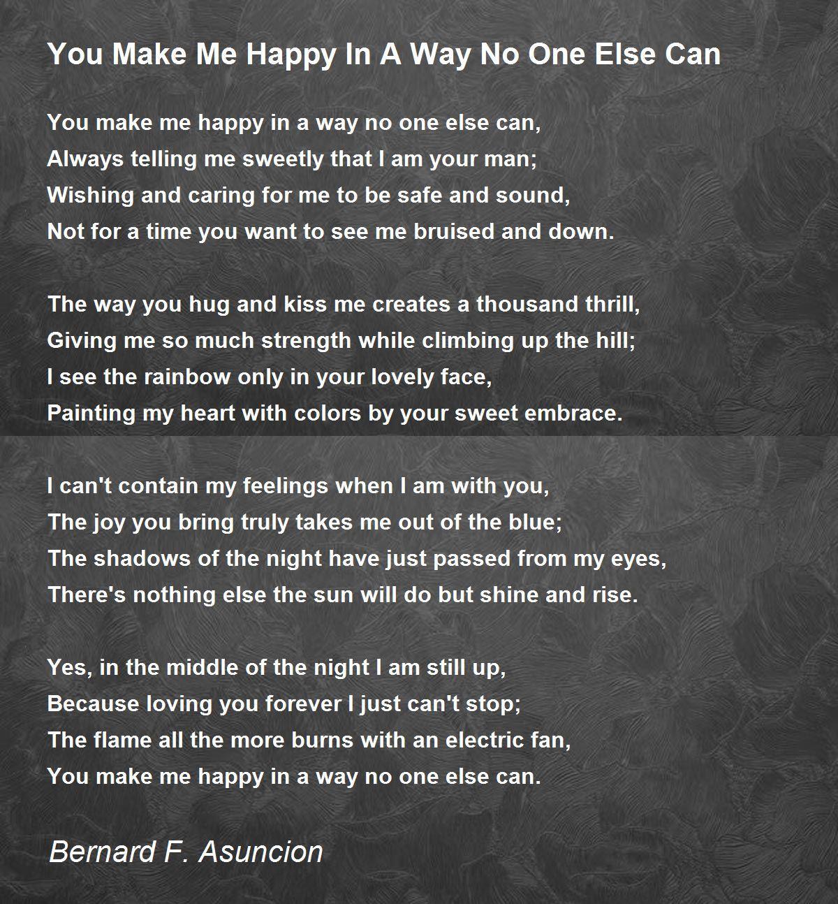 Happy u make poem me Love Poems