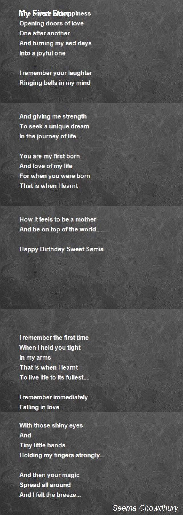 My first time poem
