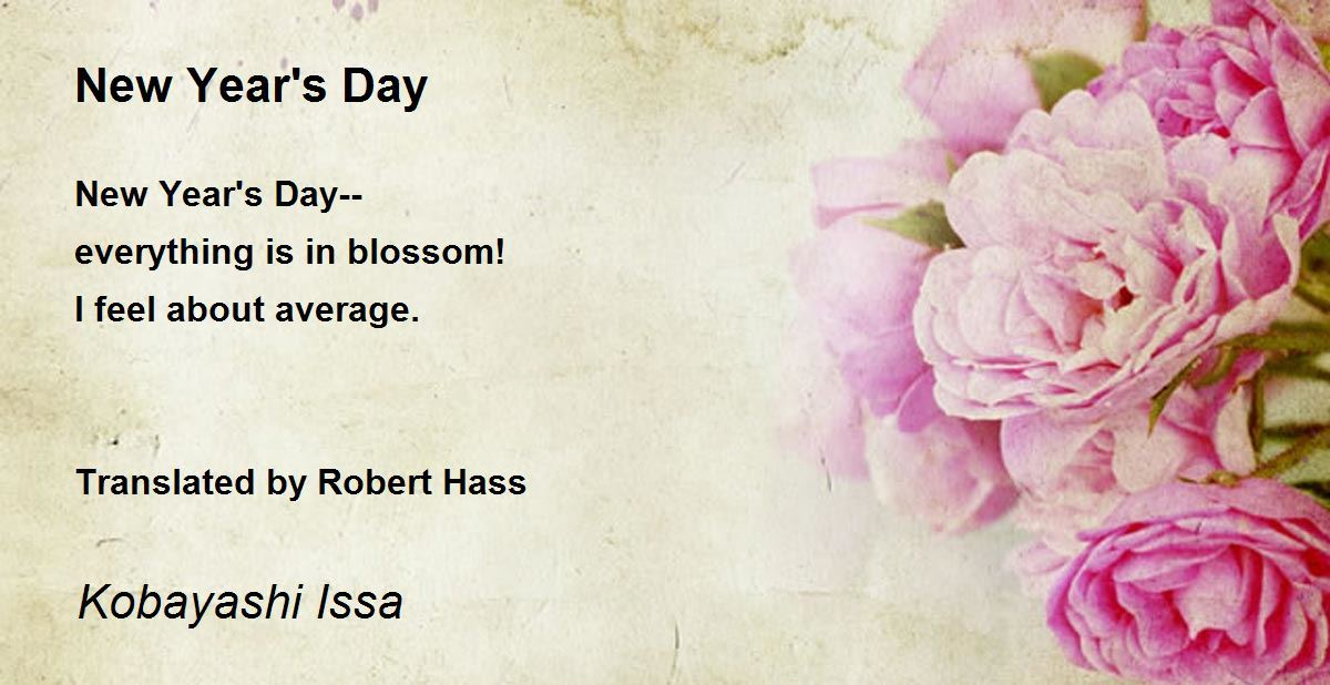 New Year\'s Day Poem by Kobayashi Issa - Poem Hunter