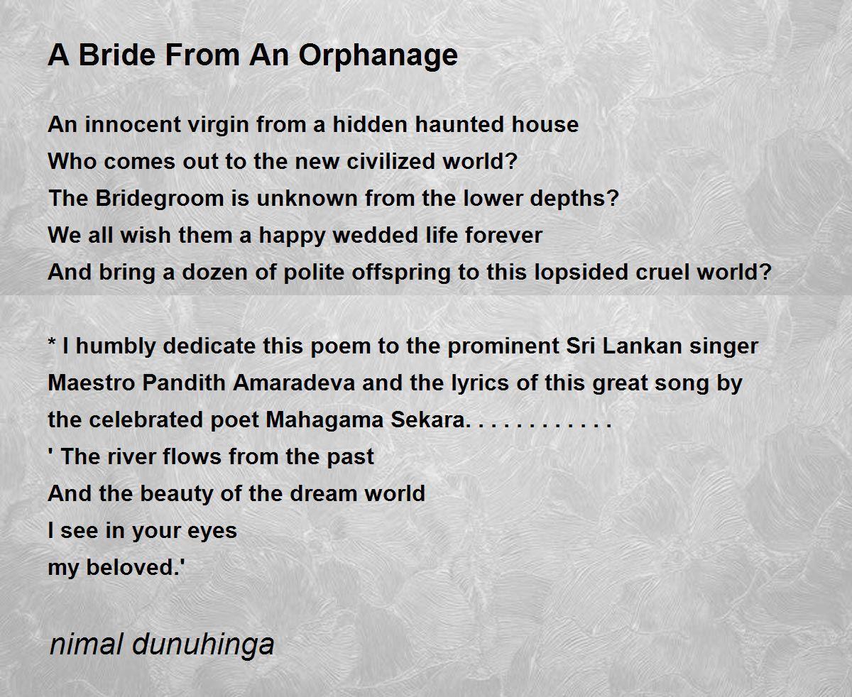 the bridegroom poem