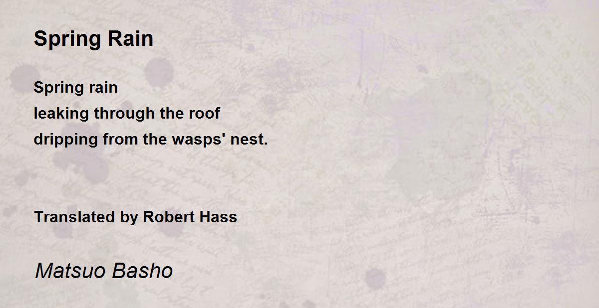 spring rain poem by matsuo basho