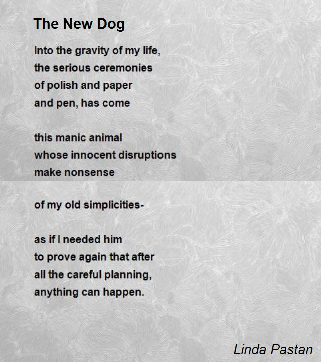 Poem About The Death Of A Pet Dog
