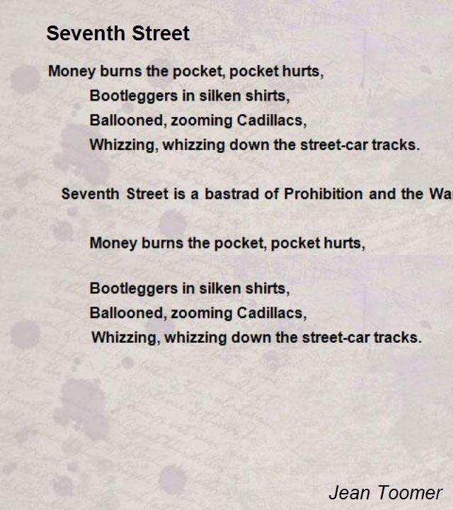 Seventh Street Poem by Jean Toomer - Poem Hunter Comments