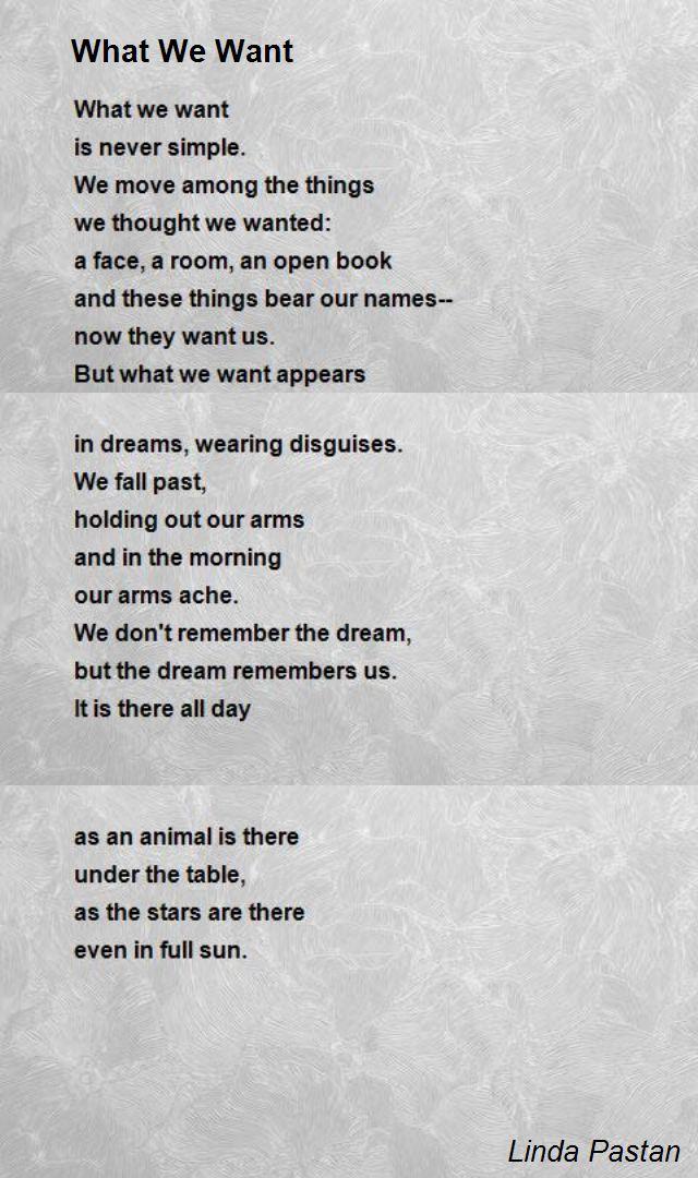 I Want A New Room Poem