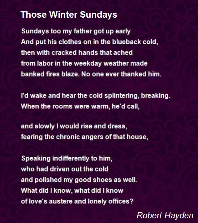 those winter sundays poem by robert hayden poem hunter