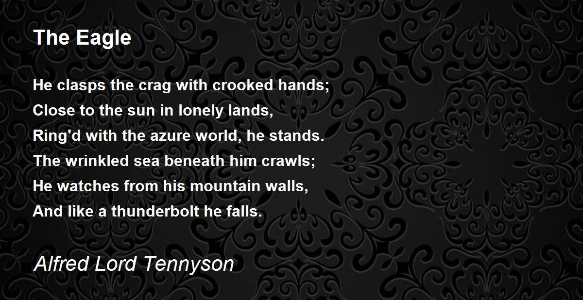 the eagle poem by alfred lord tennyson   poem hunter comments