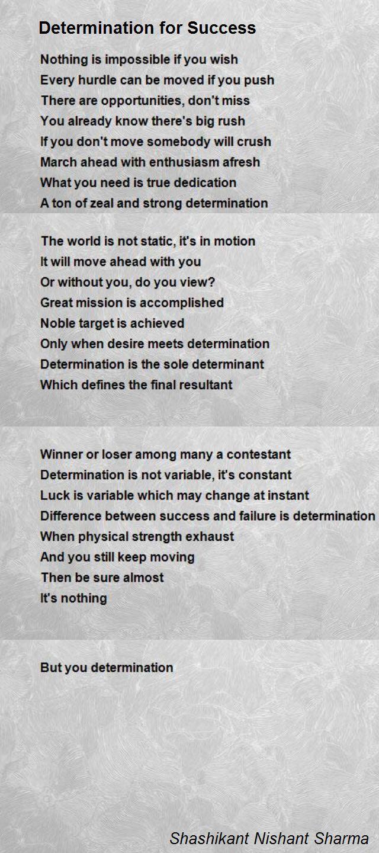 Determination For Success Poem By Shashikant Nishant Sharma Poem