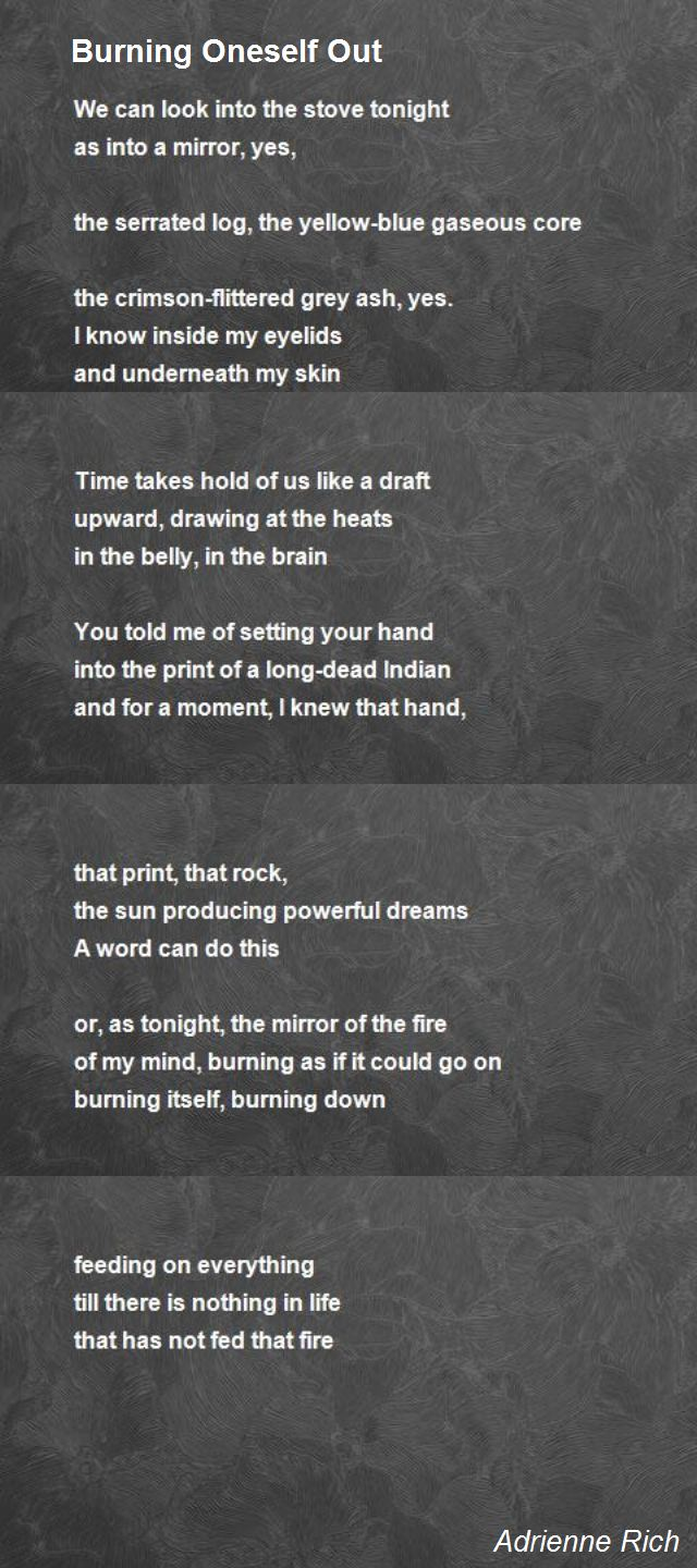 """poems by adrienne rich 271 quotes from adrienne rich:  ― adrienne rich, twenty one love poems tags: adrienne-rich, death-and-dying, love, poetry 117 likes like """"it will."""