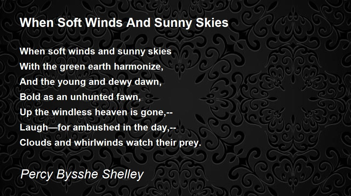 """poem interpretation cloudy day They actually love a sunny day but here in the tropics """"the cloud loves me,"""" i say when it has blocked the sun away."""