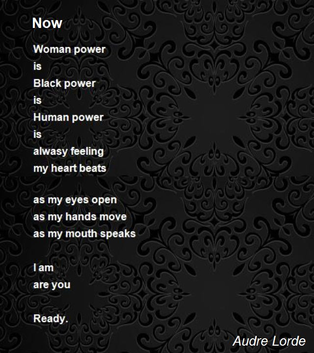 Translations Into Italian: Now Poem By Audre Lorde