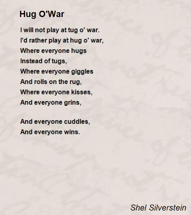 Hug Owar Poem By Shel Silverstein Poem Hunter