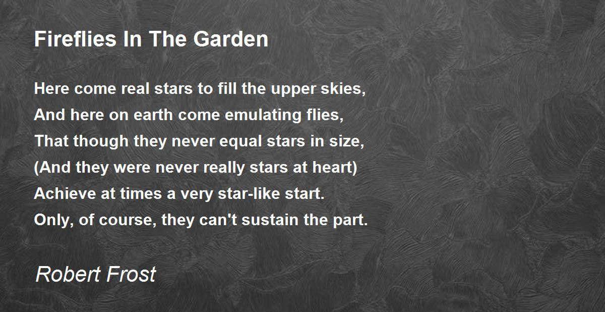rober frost girl s garden See more ideas about robert frost, poem and poems  more creative diy garden container ideas - repurposed birdcage with succulents by schvucho  the hunger project - breaking the cycle of malnutrition in girls can go a long way.
