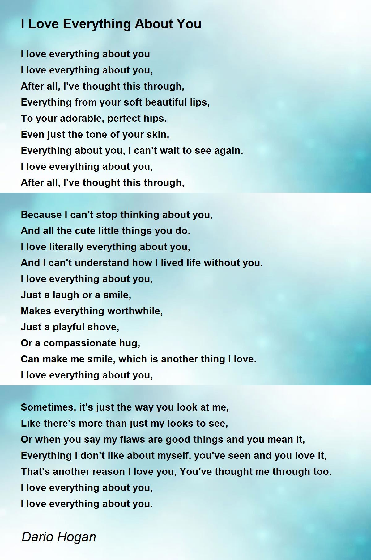 Why do i love you poems