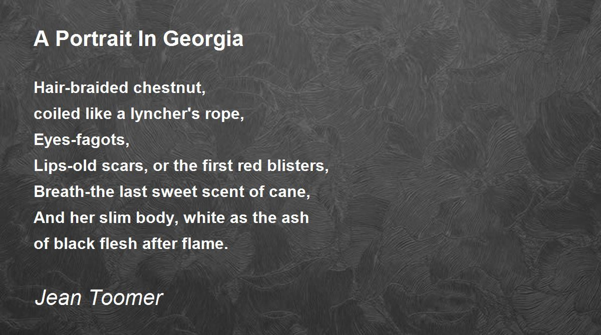 an analysis of the poems georgia dusk and karintha by jean toomer